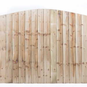 Feather Edge Fence Panel Arched