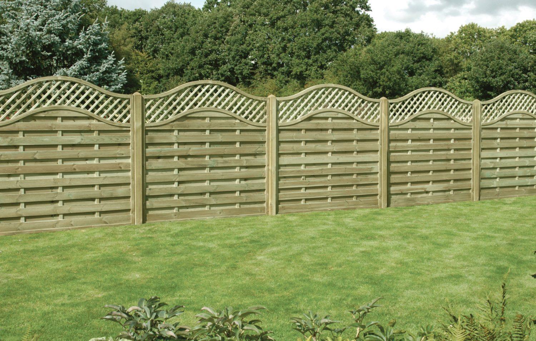 Omega Lattice Top Fence Panel 6ft x 6ft