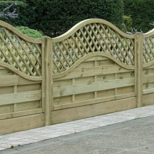 Omega Lattice Top Fence Panel 6ft x 3ft