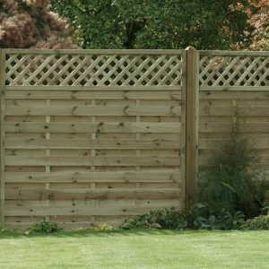 Horizontal Lattice Top Fence Panel 6ft x 6ft