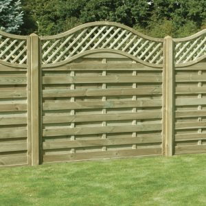 Omega Lattice Top Fence Panel 6ft x 6ft
