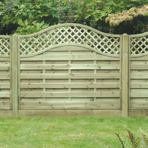 Omega Lattice Top Fence Panel 6ft x 5ft