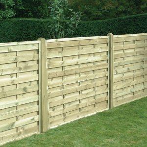 Square Horizontal Fence Panel 6ft x 5ft