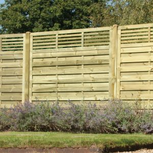 Elite Slatted Top Fence Panel 6ft x 6ft