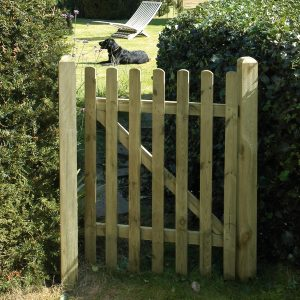 Plane Smooth Picket Gate