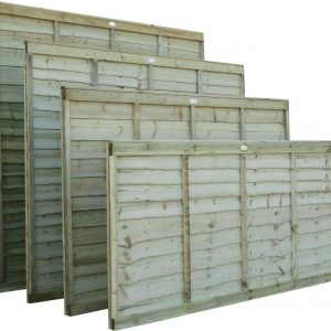 Over lap fence panel 6ft x 3ft